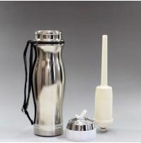 Seychelle-Prenosni filtrirni bidon iz jekla 0,74l - srebrn/bel
